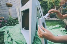 Make and Do: Upcycling an old cabinet with Laura Ashley Wallpaper.