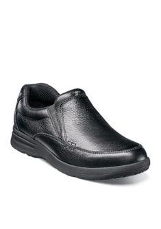 Nunn Bush Men's Cam Slip-On - Black Tumble - 10.5M