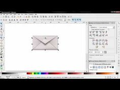 ▶ Mail Icon Vector Graphic PART 2 - Inkscape Tutorial for Beginners - YouTube