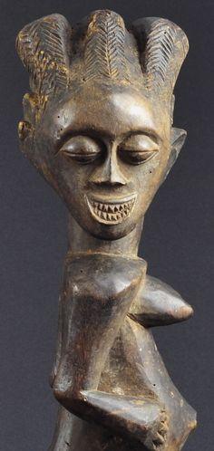 Fétiche Songye Nkisi Congo Fetish power figure African wood statue Arts premiers | eBay