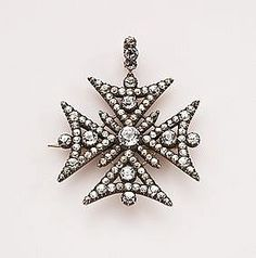 Maltese cross brooch - ca 1800