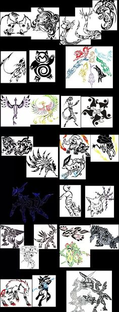 Mother of tribal Pokemon tattoos!