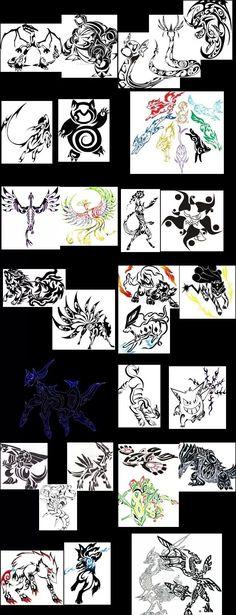 Mother of tribal Pokemon tattoos!