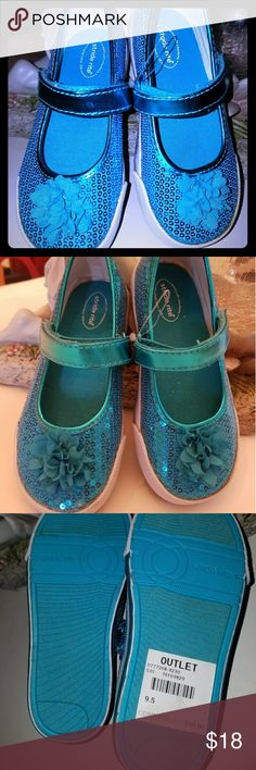 "NEW Stride Rite Toddler Sequin Mary Jane Sneaker Brand new Stride Rite ""Jenna"" sequin Mary Jane sneaker in Turquoise. Adjustable velcro instep strap.  Girls gotta have bling! Stride Rite Shoes"