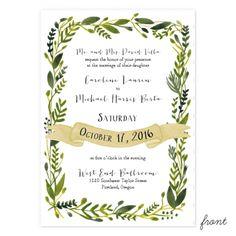Wonderland Wedding Invitation- 100/$257