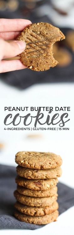 Peanut Butter Date Cookies More
