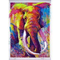 Eléphantus - Sérigraphie rehaussée de Noé Two Arte Elemental, Tableau Pop Art, Art Du Monde, Pop Art Wallpaper, Abstract Animals, Thai Art, Elephant Art, Art Abstrait, Arte Pop
