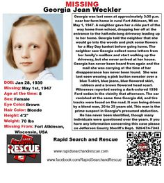 Current Missing Person flyers from Wisconsin in the 2000s To