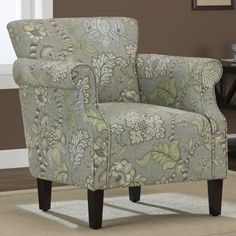 Pretty upholstered chair I would love to have in my lime-green to be office! Mobiliario y Sillas de Oficina