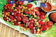 Cherry Tomato Chickpea Orange Pepper Salad