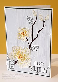 Stampin Up Climbing Orchid bundle, with sentiment from Happy Birthday Gorgeous.
