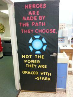 Iron man classroom door