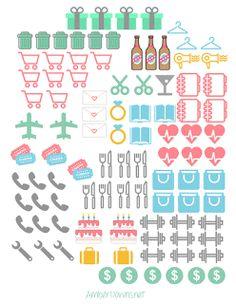 Adesivos para planner grátis para imprimir blog Vanessa Freitas - Esposa, Mãe e Dona de Casa