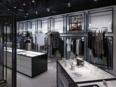 Artifacts Nanshi store by Straight Square Design, Taipei store design Fashion Shop Interior, Clothing Store Interior, Clothing Store Displays, Clothing Store Design, Design Shop, Shop Interior Design, Design Interiors, Shop Interiors, Trendy Furniture