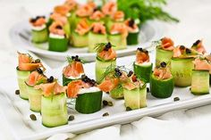 DIY-Finger-Foods-how to make Smoked-Salmon-Cucumber-Rolls