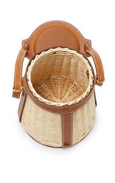 Hermes | Natural Barenia Wicker Picnic Farming Bag