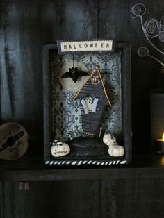 Get into the spirit of Halloween with this spooktacular haunted house shadowbox. Admire the details during the day and watch it glow at night.