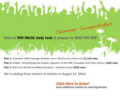 PASS THE ARE with FREE NALSA study tools - Enter our Summer Sweepstakes! #architecture