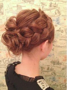 Huge braids hair up-do Plaits Hairstyles, Flower Girl Hairstyles, Elegant Hairstyles, Bride Hairstyles, Down Hairstyles, Pretty Hairstyles, Short Hair Updo, Short Hair Styles, Bridal Hair Inspiration