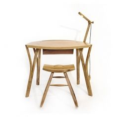 Y Writing Desk with Adjustable Light By  Angus Ross Furniture