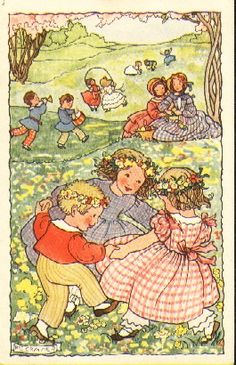 Rie Cramer :  Midsummer-Dutch (1887-1977) postcard