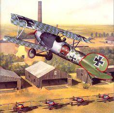 Albatros D.V of Jasta 5, by Robert Karr