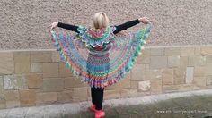 Crochet Bohemian Vest, Rainbow Bohemian Vest, Multicolor Festival, Hippie Bolero - Crochet creation by etelina Granny Square Scarf, Granny Square Crochet Pattern, Crochet Patterns, Crochet Mandala, Crochet Shawl, Knit Crochet, Crochet Heart Blanket, Crochet Jacket, Crochet Woman