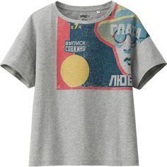 UNIQLO Women Sprz Ny Short Sleeve T-Shirt (Stenberg Brothers) ($20) ❤ liked on Polyvore