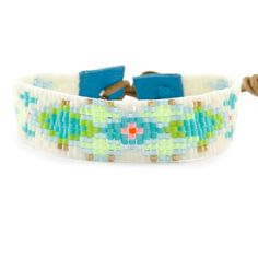 Chan Luu - Turquoise Mix Floral Bracelet on Turquoise Leather, $115.00 (http://www.chanluu.com/bracelets/turquoise-mix-floral-bracelet-on-turquoise-leather/)