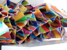 Big sheet of fused plastic that has been manipulated into an honeycomb shape 2015- Geskea Andriessen