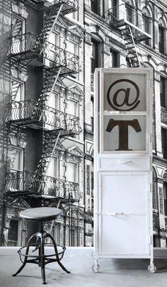 ESTAhome.nl - maak je huis gezellig! PhotowallXL brandtrap behang, fotobehang, gordijnstof en dekbedovertrekken