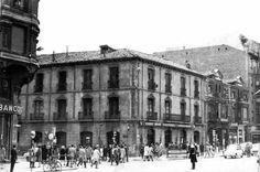 León, fotos antiguas, esquina avda de Ordoño ll  con la calle independencia