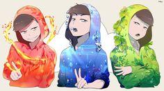 Read Crossovers from the story Cómics de Osomatsu-san (hay Yaoi by (Flarmin) with reads. Vocaloid, Osomatsu San Doujinshi, Animé Fan Art, Ichimatsu, Nagisa, Anime Boys, Me Me Me Anime, My Idol, Anime Art