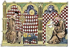 Monk scholars.  13th century.
