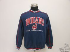 Vtg 90s Lee Sport Cleveland Indians Crewneck Sweatshirt sz M Medium MLB SEWN #LeeSport #ClevelandIndians #tcpkickz
