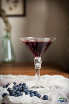 Pom Blue Martini from @PureWow