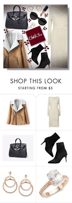 """""""FALL DRESSES WITH CLOTHFIX-SPONSORED CONTEST!"""" by sarguo ❤ liked on Polyvore featuring Carla Zampatti and Saks Fifth Avenue"""