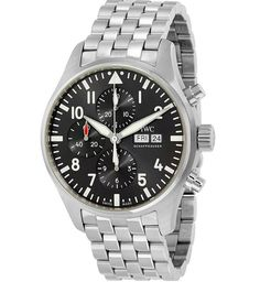 Shop for IWC Men's 'Pilot Spitfire' Chronograph Automatic Stainless Steel Watch. Get free delivery On EVERYTHING* Overstock - Your Online Watches Store! Get in rewards with Club O! Iwc Watches, Cool Watches, Watches For Men, Wrist Watches, Breitling Navitimer, Rolex Gmt Master, Royal Oak, Stainless Steel Watch, Stainless Steel Bracelet