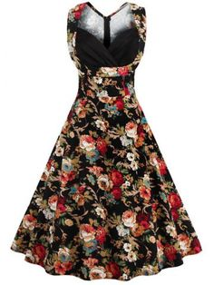 GET $50 NOW | Join RoseGal: Get YOUR $50 NOW!http://www.rosegal.com/vintage-dresses/retro-style-high-waisted-floral-print-women-s-dress-626861.html?seid=4201792rg626861