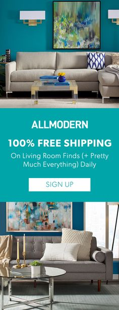 Living Room - Sign up now for FREE SHIPPING on orders over $49 at allmodern.com!