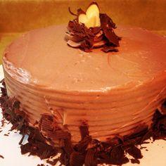 Rain Got You Down?  Cozy Up with this Double Chocolate Almond Cake!!  Mmmmmmm!!!!!!  #rain #cozy #doublechocolate #almond #cake #treat #foodPorn #decadent #Instagood #instafood #incredibleEdibles #BlackRosePastries