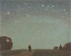 """"""" Sir Claude Francis Barry (1883-1970) Over the Horizon - a Jersey Nocturne """""""