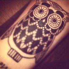 Super cute owl tattoo