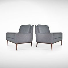 Pair of Classic Lounge Chairs by Paul McCobb | From a unique collection of antique and modern lounge chairs at http://www.1stdibs.com/furniture/seating/lounge-chairs/