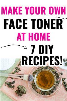 Diy Toner Face, Skin Toner, Facial Toner, Oily Skin, Homemade Toner, Homemade Facials, Tea Tree Oil Toner, Diy Beauty, Beauty Hacks