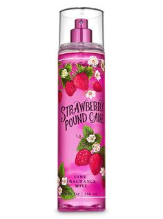 Bath and Body Works Strawberry Pound Cake Fine Fragrance Mist Spray 8 Ounce White Barn Candle Company Bath and Body W. Bath Body Works, Body Soap, Body Lotion, The Body Shop, Wallpaper Collage, Bath And Body Works Perfume, Avon, Pound Cake With Strawberries, Bath And Bodyworks