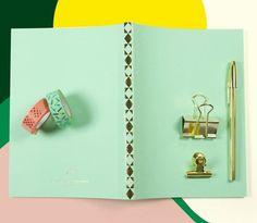 #schreibwaren #papierwaren #stationary #papeterie #goldclips #bicgold #washitapes #notebook @ola_studio (at sous-bois)