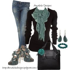 A fashion look from January 2013 featuring long sleeve sweaters, distressed jeans and strappy sandals. Browse and shop related looks.
