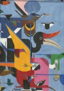 Charley Harper Needlepoint Canvases