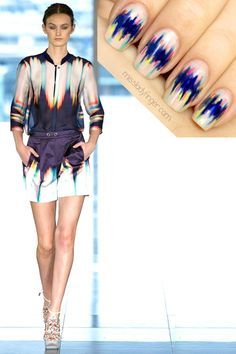 MANICURE MUSE: Matthew Williamson Spring Color theory by the master. Translation by Miss Ladyfinger. Lesson for these Ladyfingers inside… Nailart, Cute Nails, Pretty Nails, Lady Fingers, Nail Polish Art, Fabulous Nails, Cool Nail Designs, Art Designs, Matthew Williamson